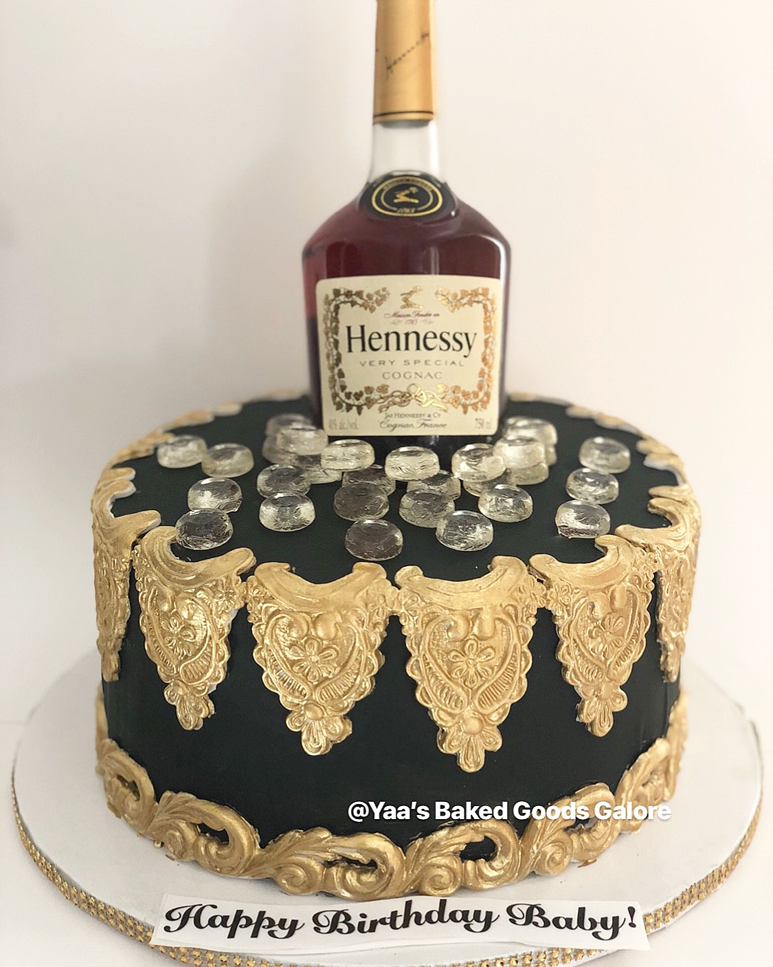10″ Hennessy bottle cake – Yaa's Baked Goods Galore